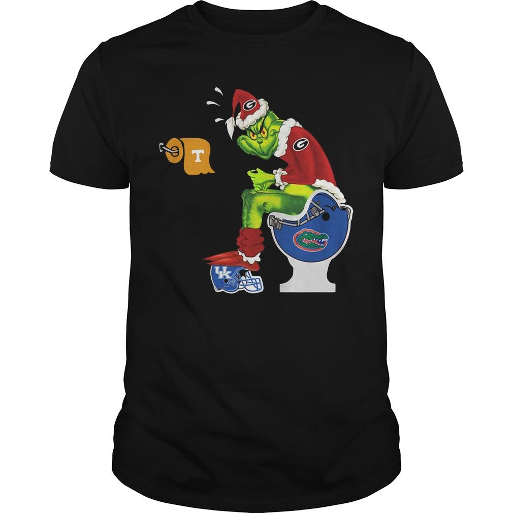 Santa Grinch Georgia Bulldogs toilet Guys shirt
