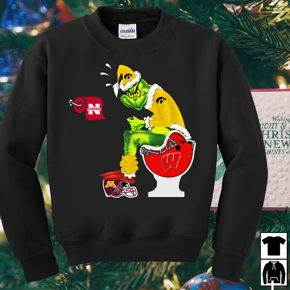 Santa Grinch Iowa Hawkeyes toilet sweater