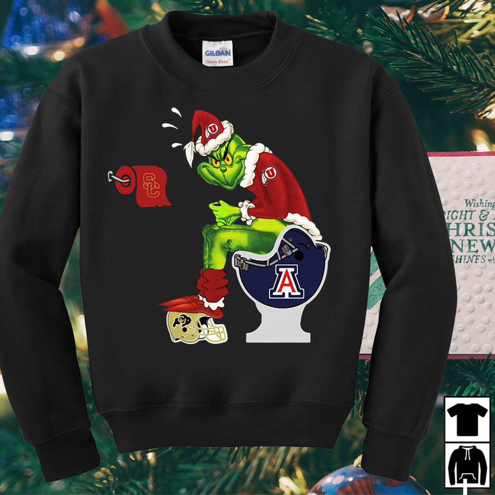 Santa Grinch Utah Utes Alternate toilet sweater