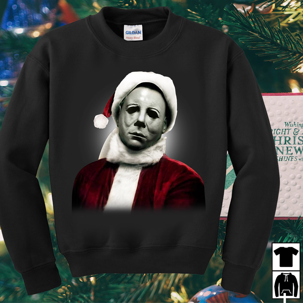 Santa Michael Myers Christmas Sweater Shirt Hoodie And Longsleeve Tee