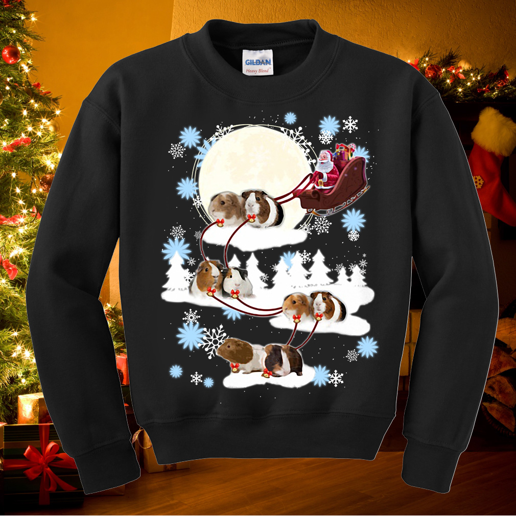 Santa riding Guinea Pig Christmas sweater