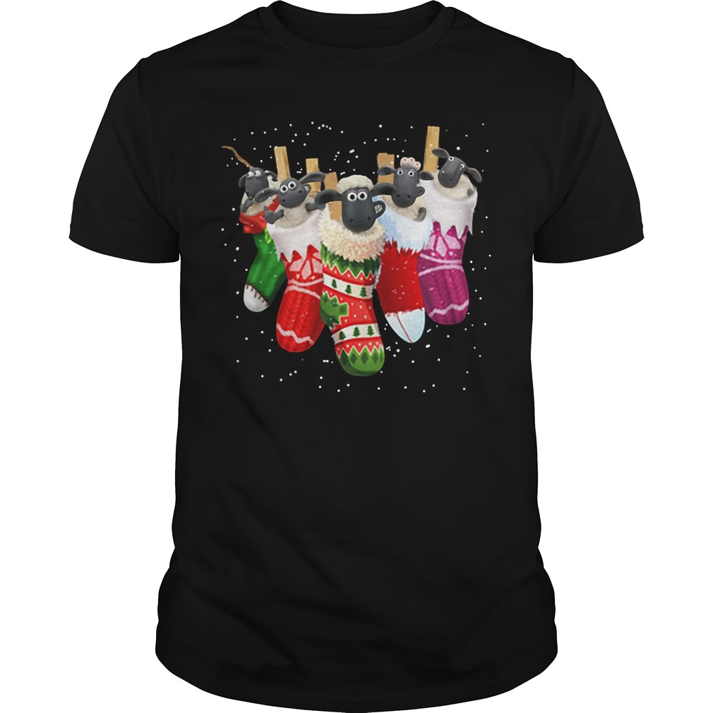Shaun the Sheep in socks Christmas Guys Shirt