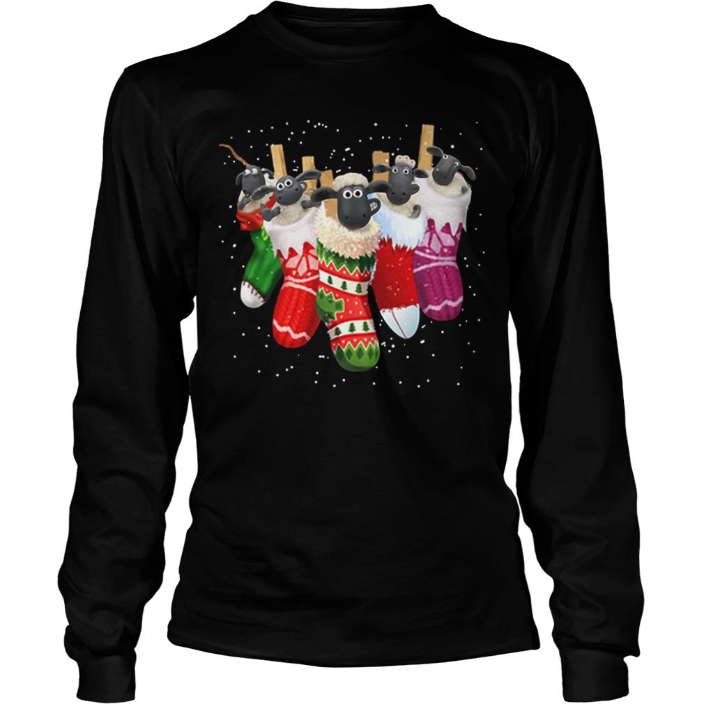 Shaun the Sheep in socks Christmas Longsleeve Tee