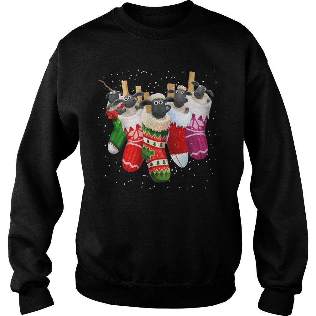 Shaun the Sheep in socks Christmas Sweater