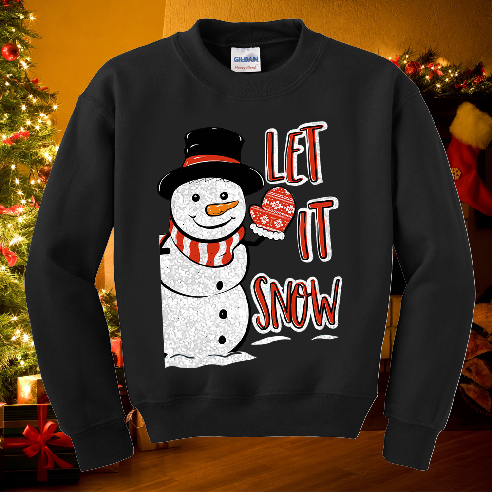 Simply Southern Snowman let it snow sweater