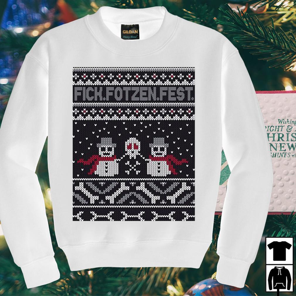 Snowmans and Skull Fick fotzen fest Christmas sweater