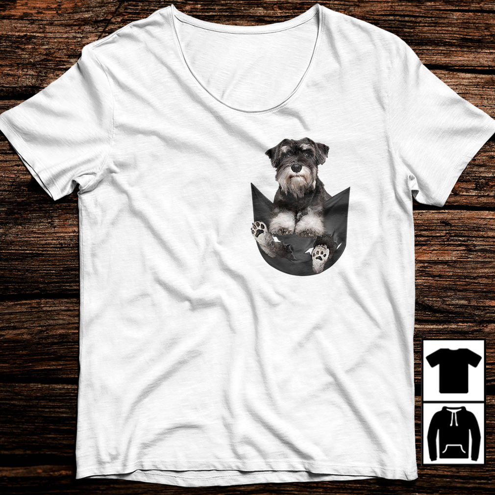 Standard Schnauzer in your pocket shirt