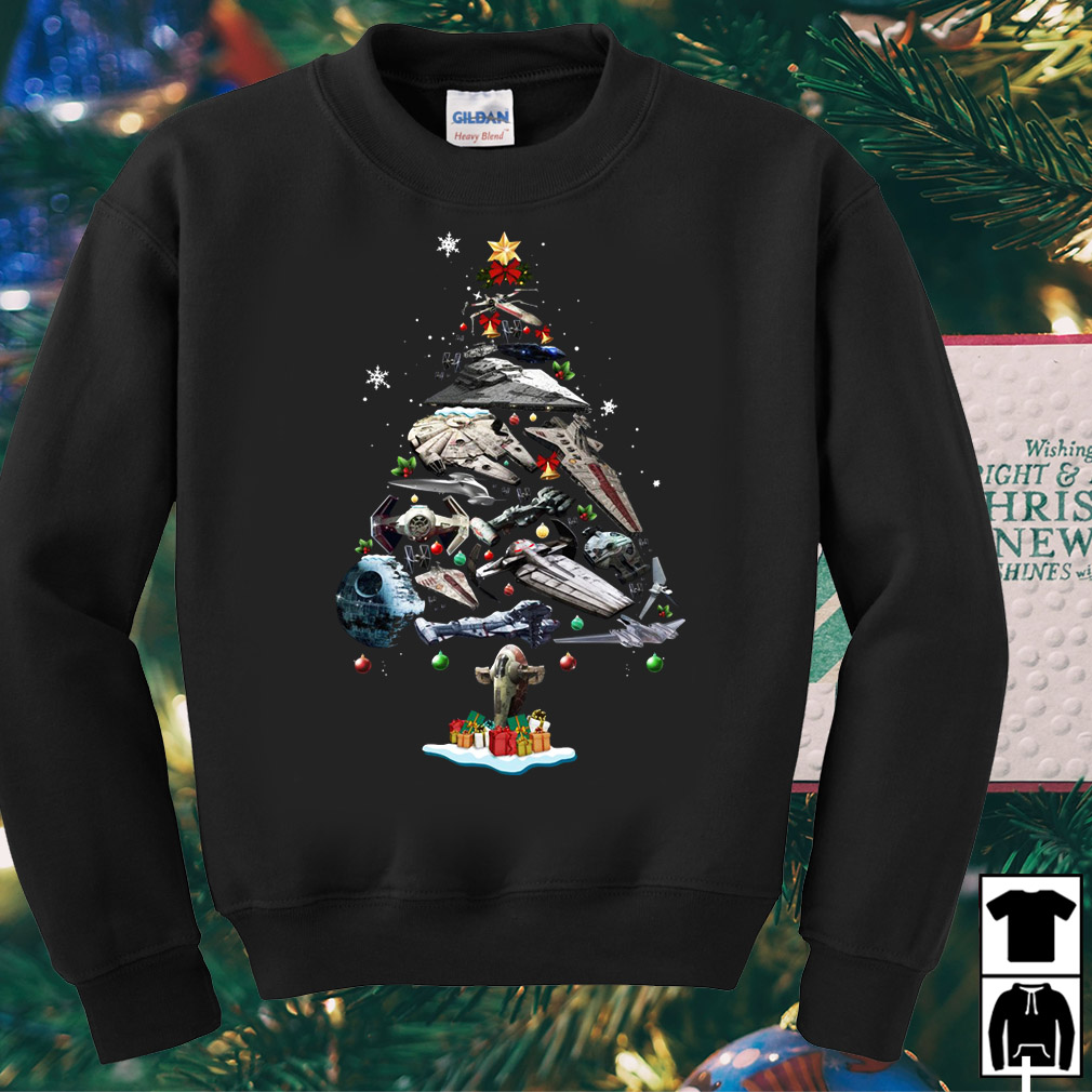 Star Wars ships Christmas tree sweater