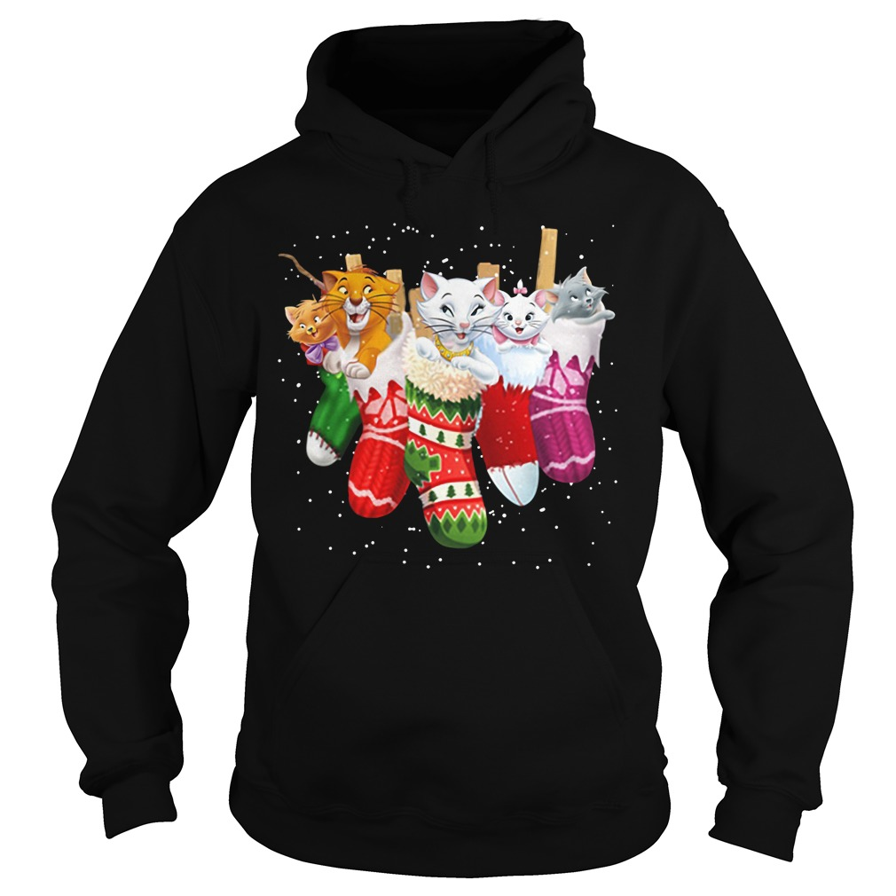 The Aristocats in socks Christmas Hoodie