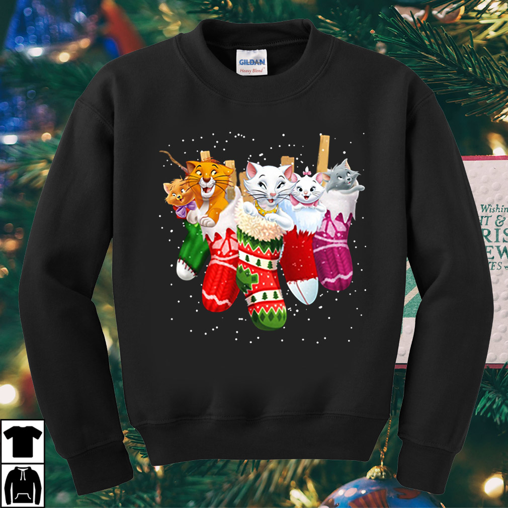 The Aristocats in socks Christmas sweater