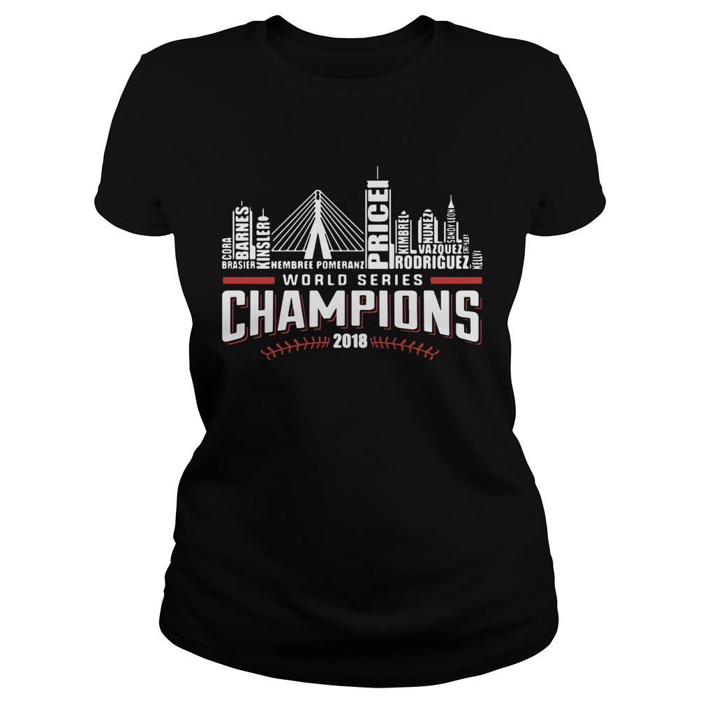 World series champions 2018 Boston Red Sox Ladies Tee
