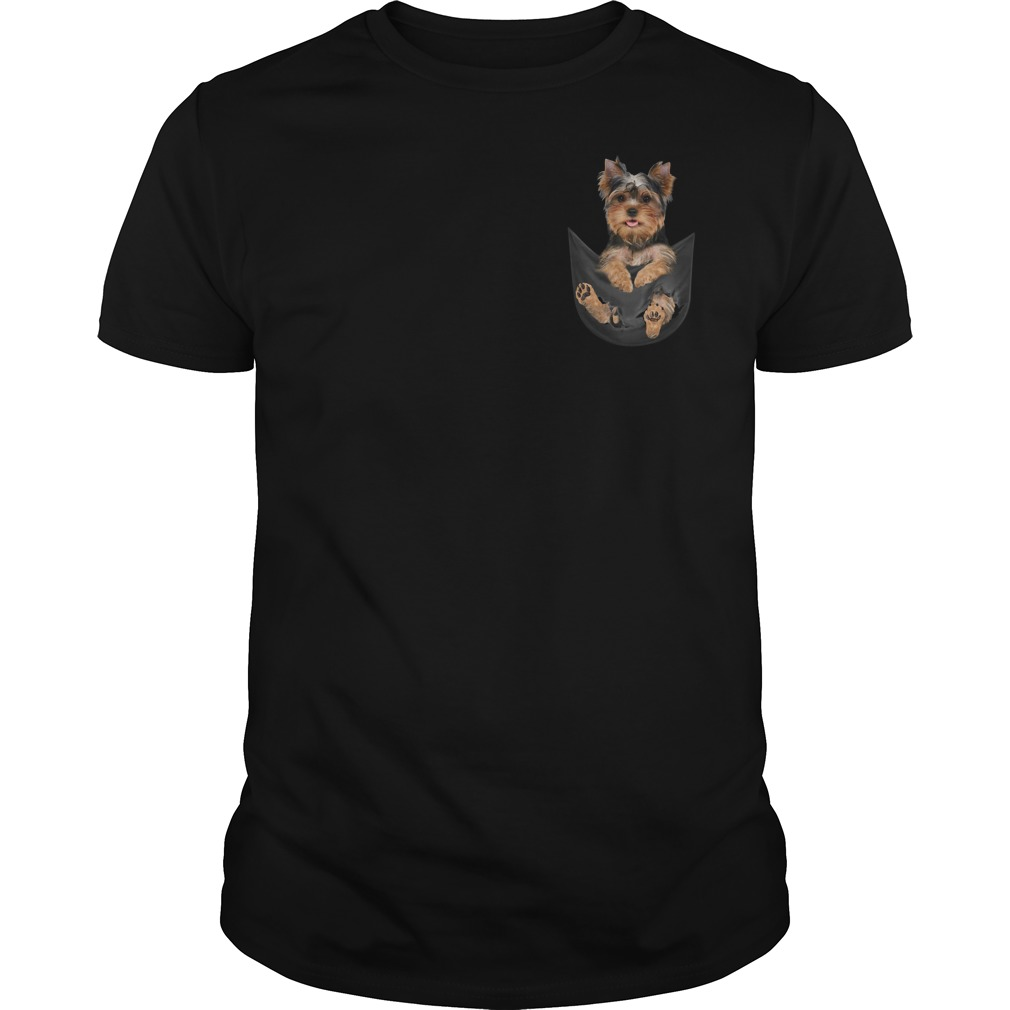 Yorkshire Terrier in pocket Guys Shirt