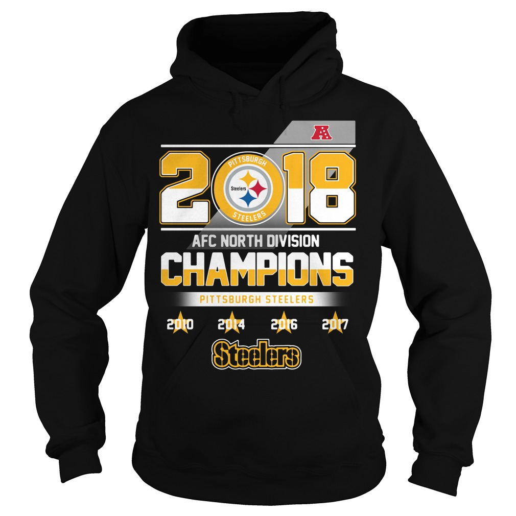 2018 AFC North Division Champions Pittsburgh Steelers Hoodie