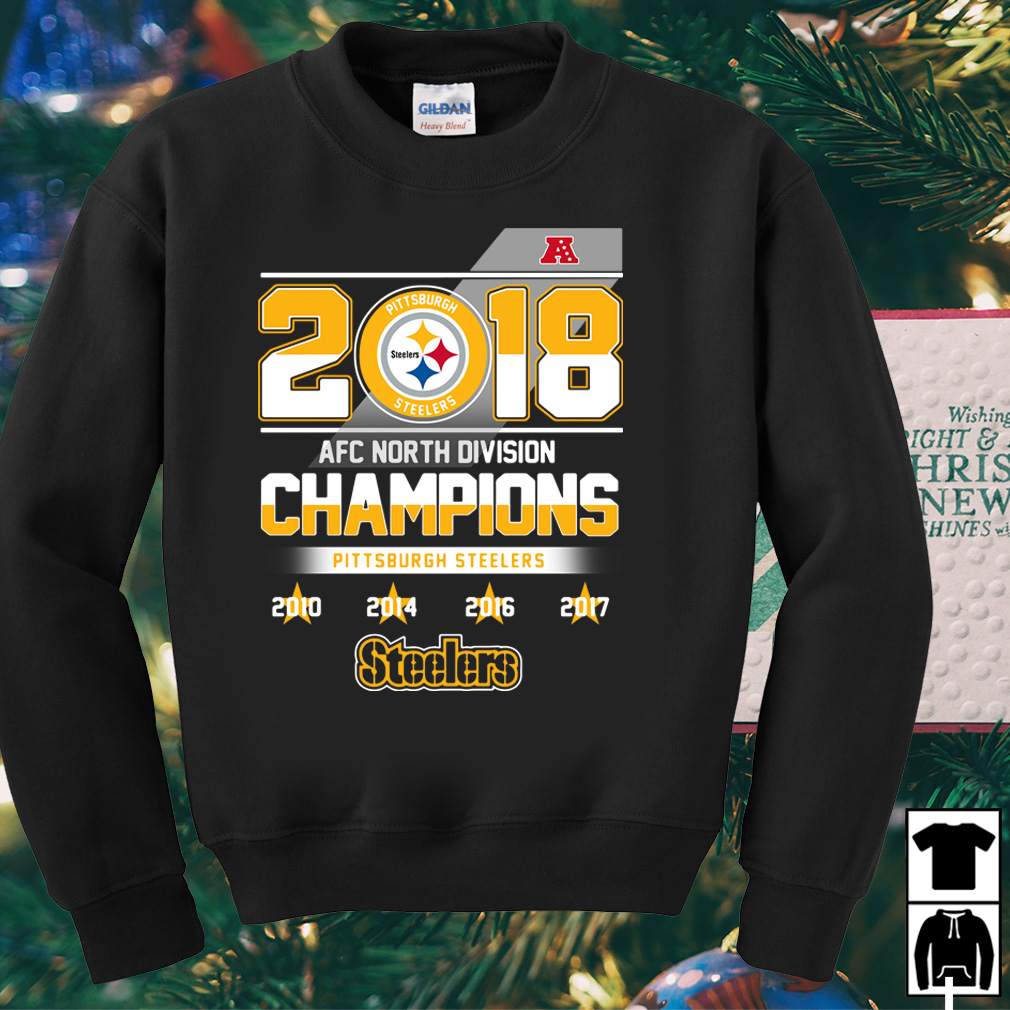 2018 AFC North Division Champions Pittsburgh Steelers shirt