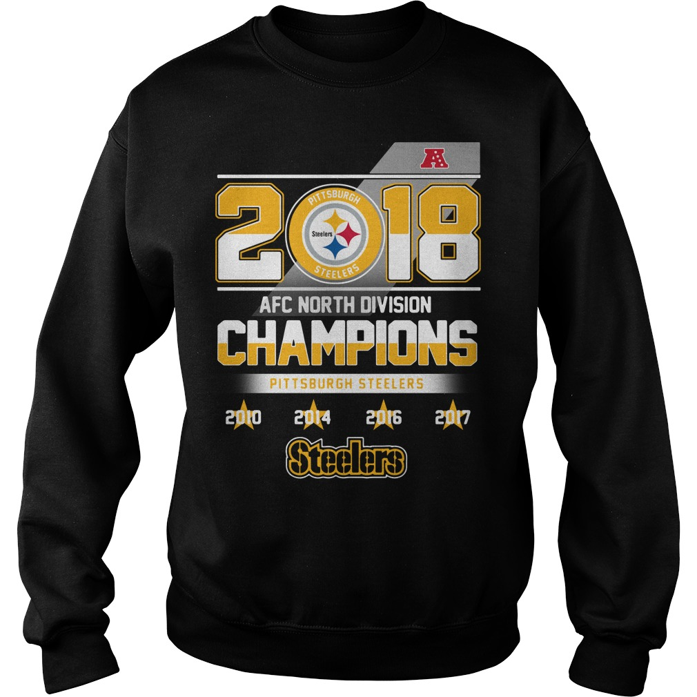 2018 AFC North Division Champions Pittsburgh Steelers Sweater