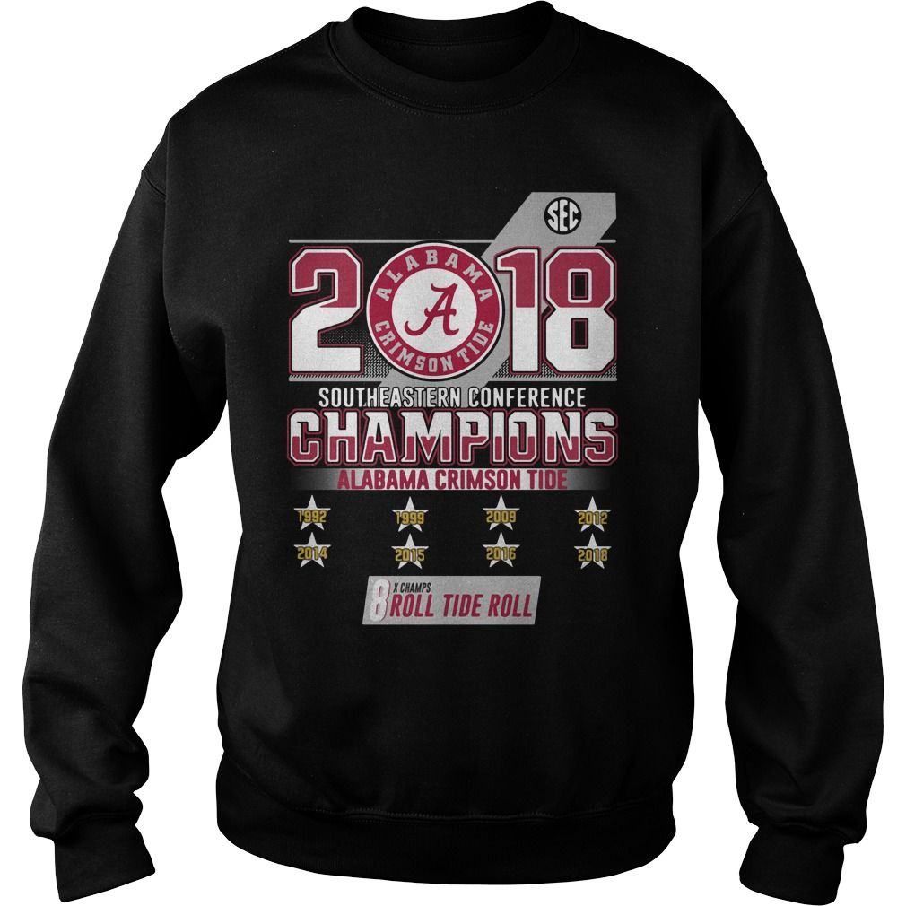 2018 southeastern conference champions Alabama Crimson Tide Sweater