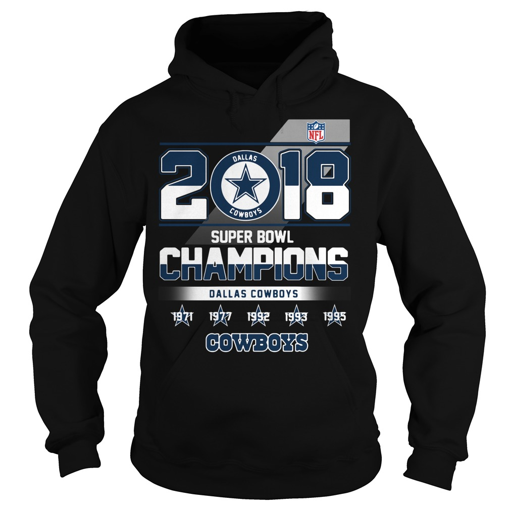 2018 Super Bowl Champions Dallas Cowboys Hoodie