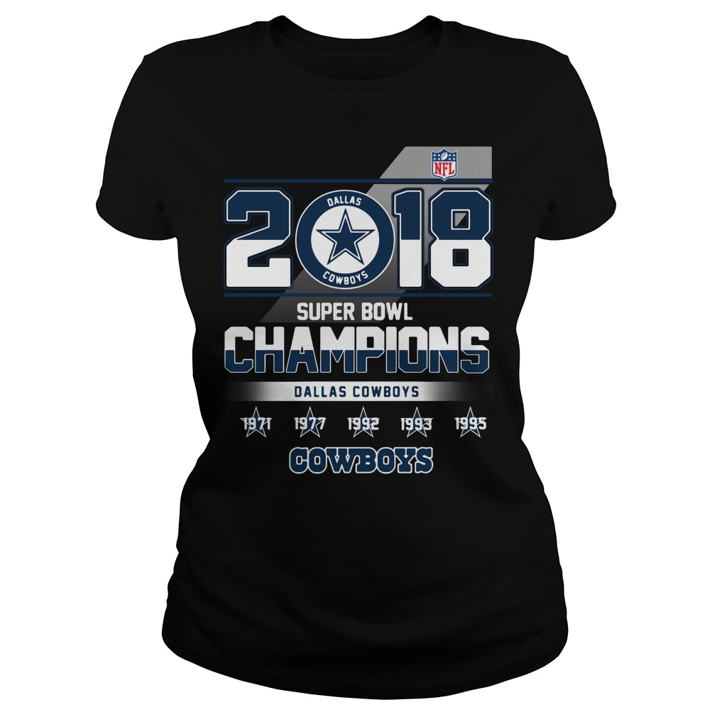 2018 Super Bowl Champions Dallas Cowboys Ladies tee