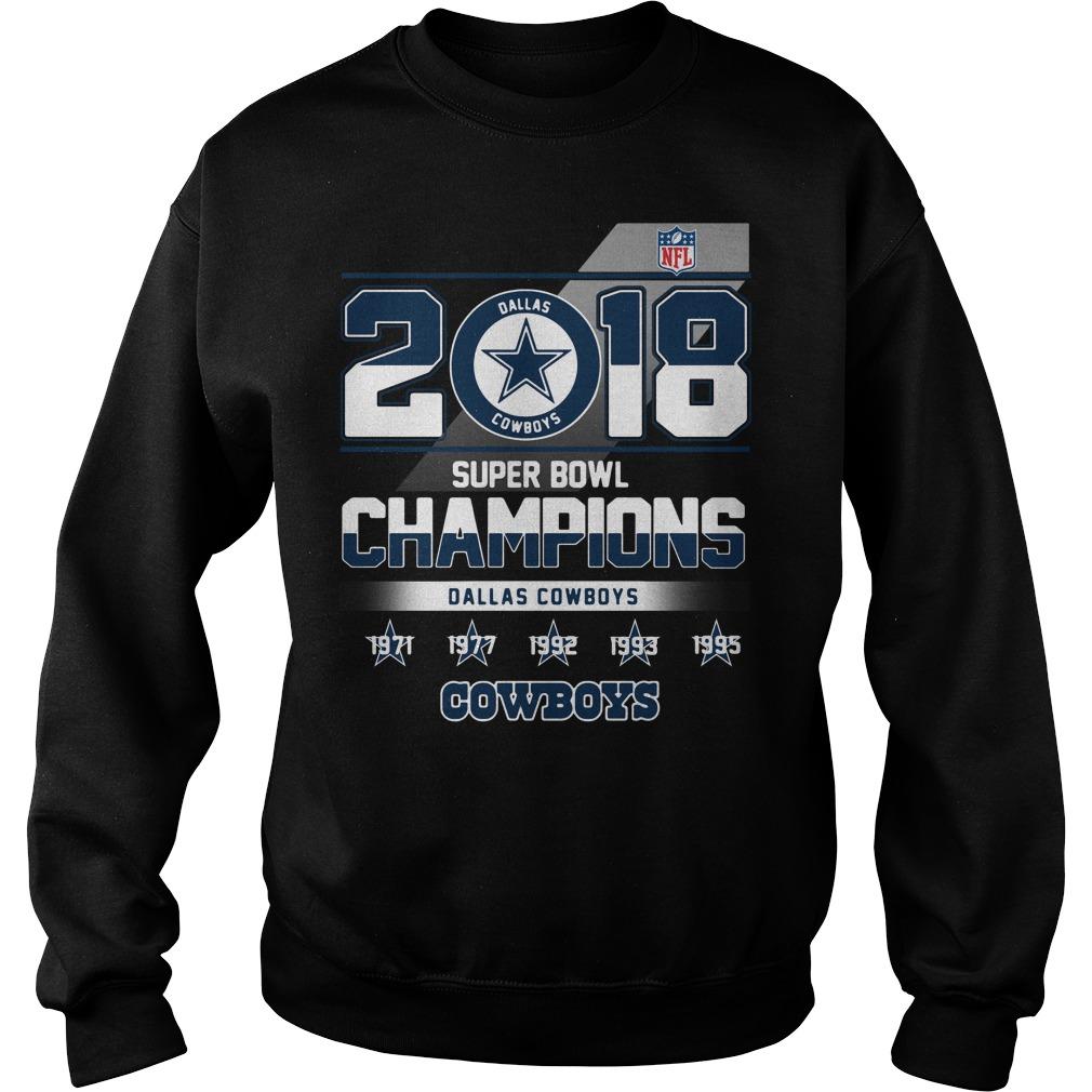 2018 Super Bowl Champions Dallas Cowboys Sweater