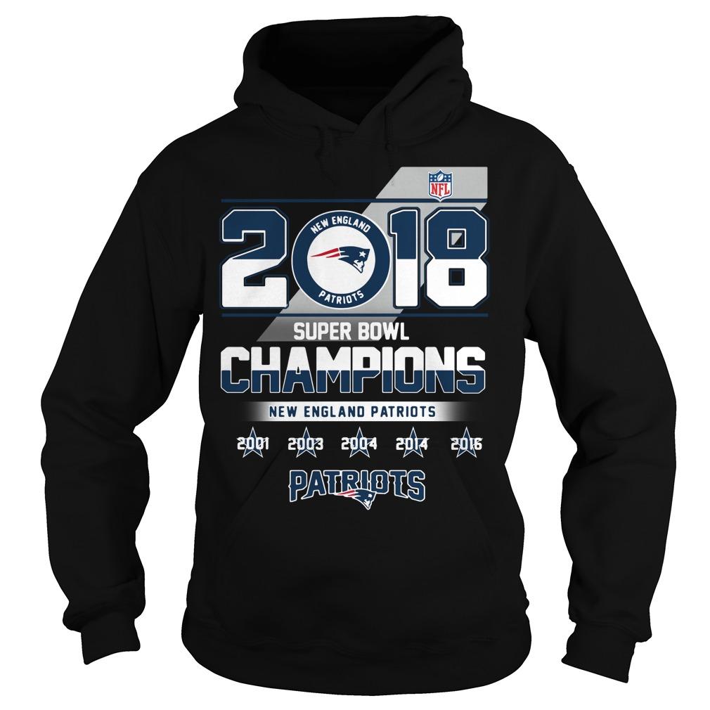 2018 Super Bowl Champions New England Patriots Hoodie