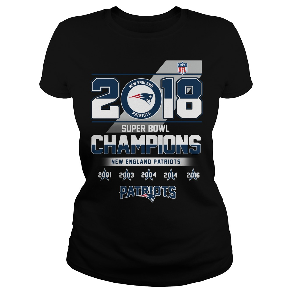 2018 Super Bowl Champions New England Patriots Ladies tee