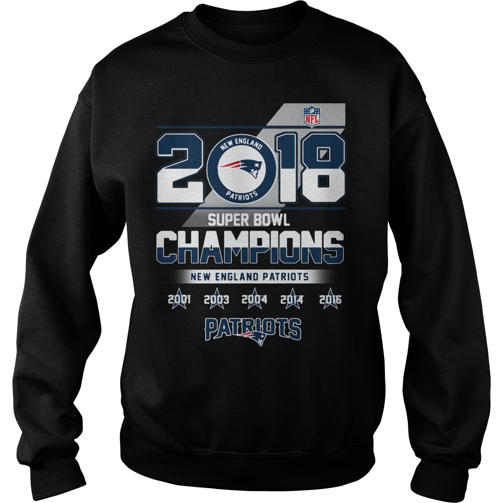 2018 Super Bowl Champions New England Patriots Sweater