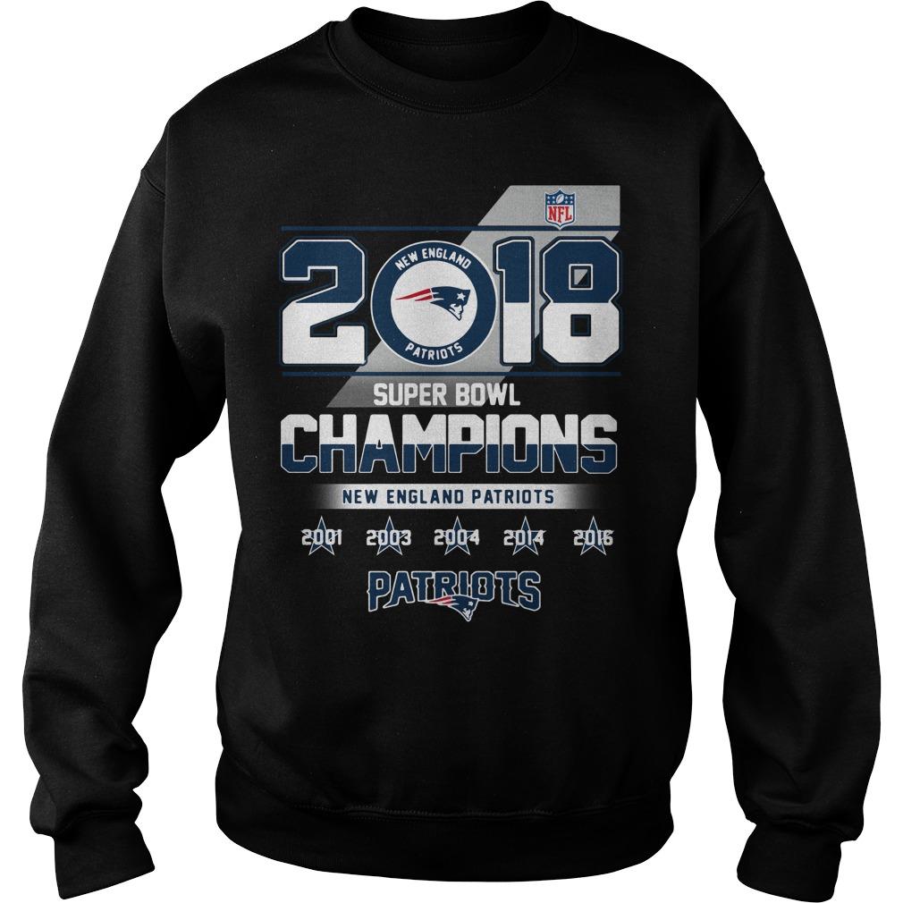 2018 Super Bowl Champions New England Patriots Sweater