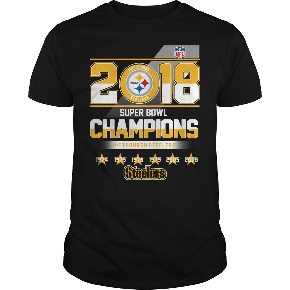 2018 Super Bowl Champions Pittsburgh Steelers Guys shirt