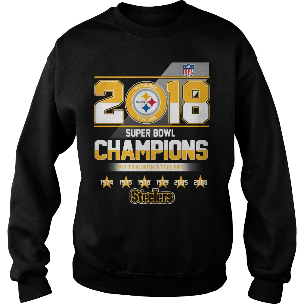 2018 Super Bowl Champions Pittsburgh Steelers Sweater
