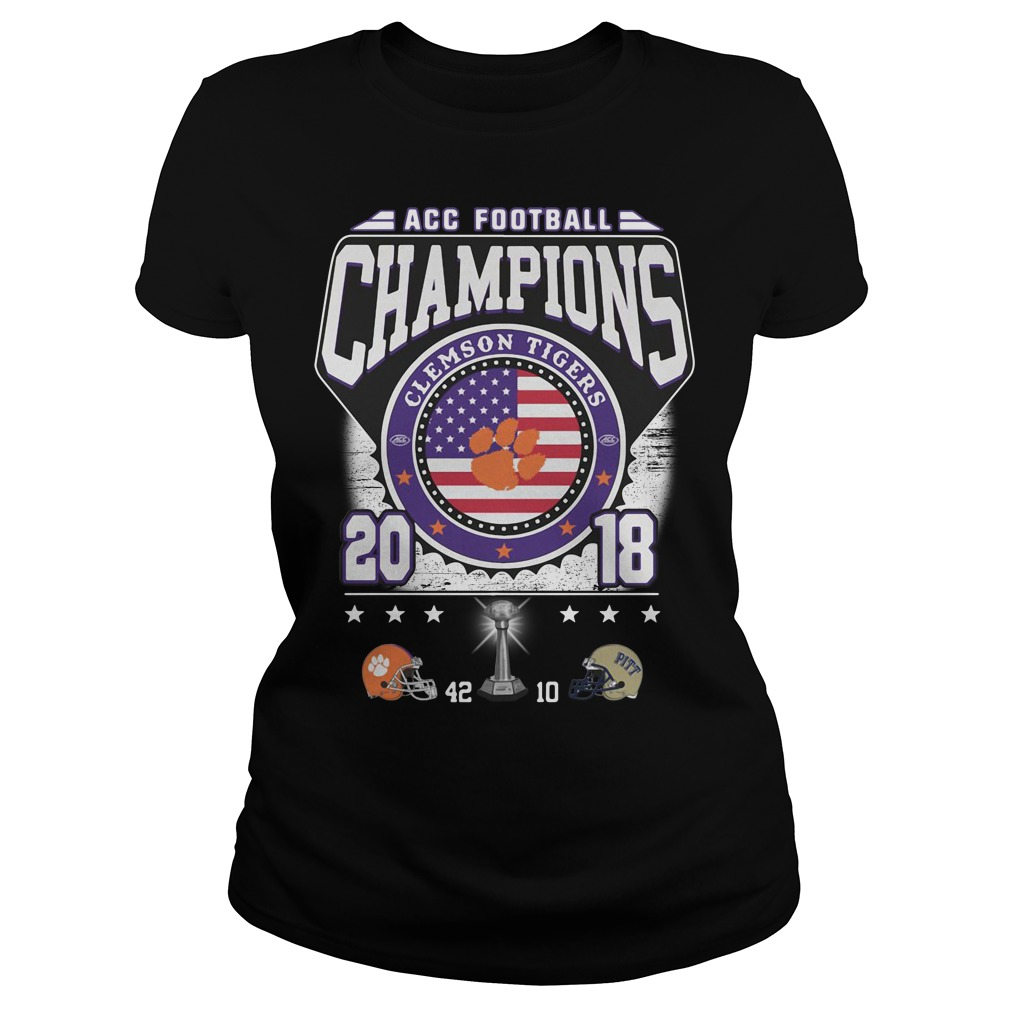 ACC football champions Clemson Tigers 2018 Ladies tee