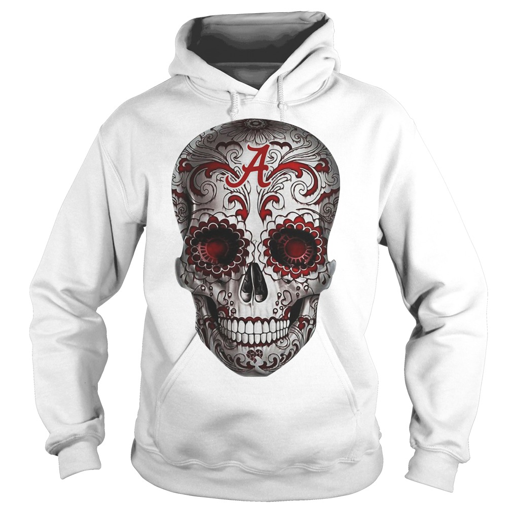 Alabama Crimson Tide flower skull Hoodie