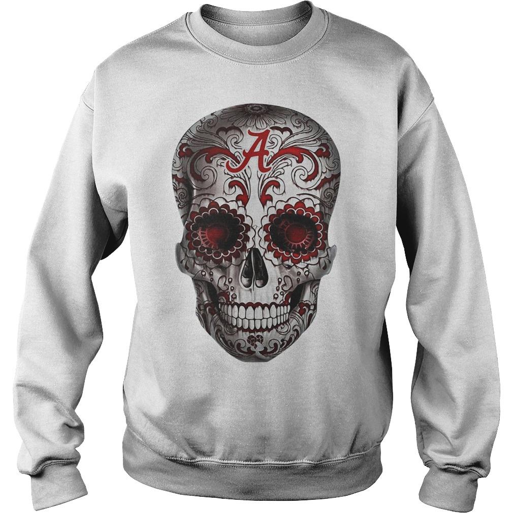 Alabama Crimson Tide flower skull Sweater