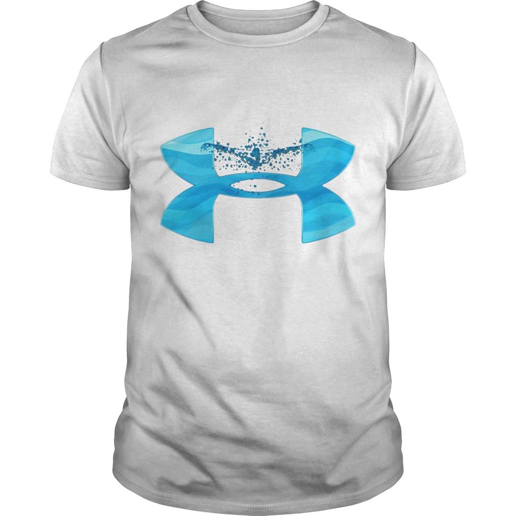 Under Armour love swimming Guys shirt