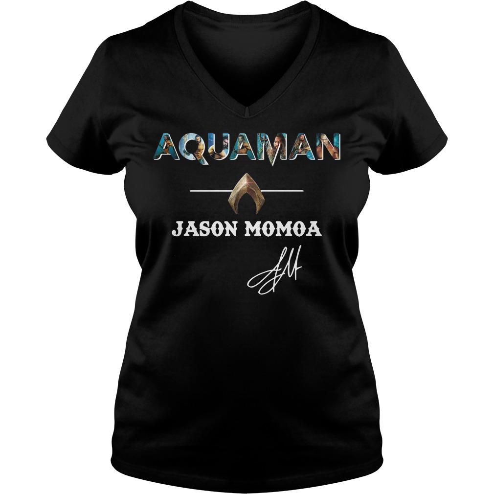 The Atlantis Aquaman Jason Momoa V-neck T-shirt