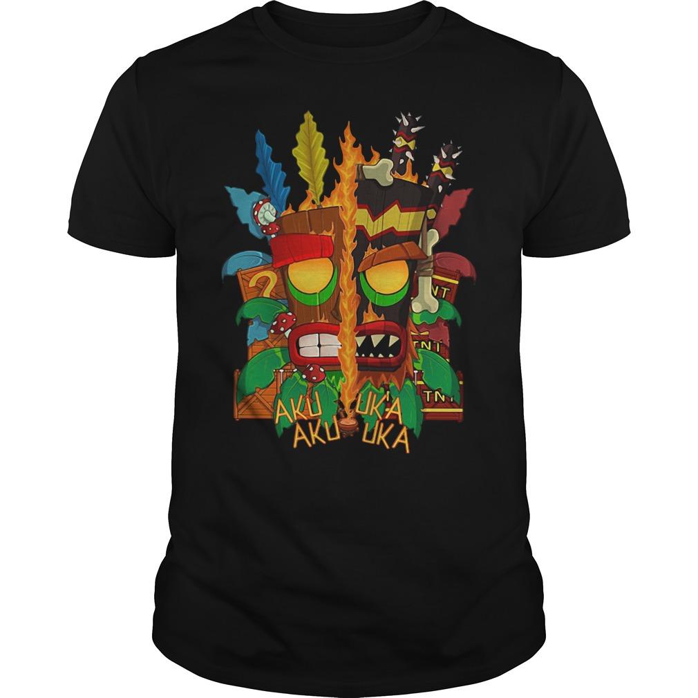Bandicoot Aku Uka Aku Uka Guys shirt