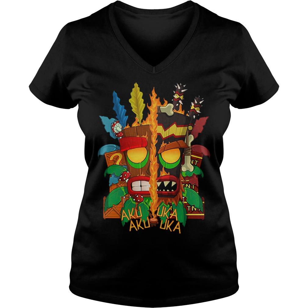 Bandicoot Aku Uka Aku Uka V-neck T-shirt