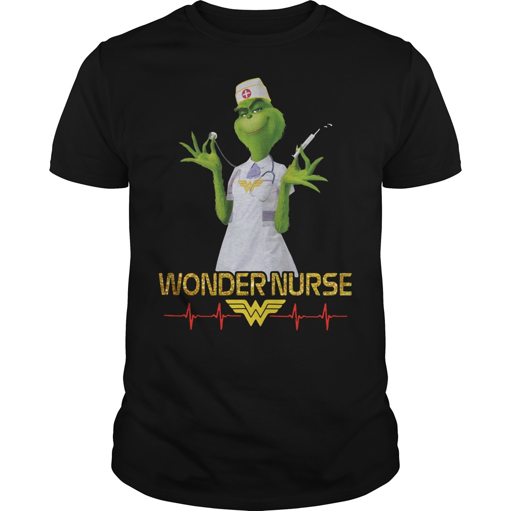 Beauty's Grinch wonder nurse Guys Shirt