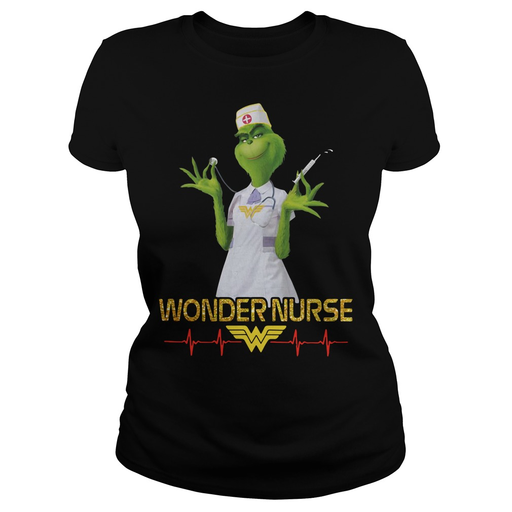 Beauty's Grinch wonder nurse Ladies Tee