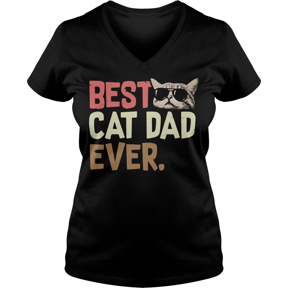 Best cat dad ever V-neck T-shirt