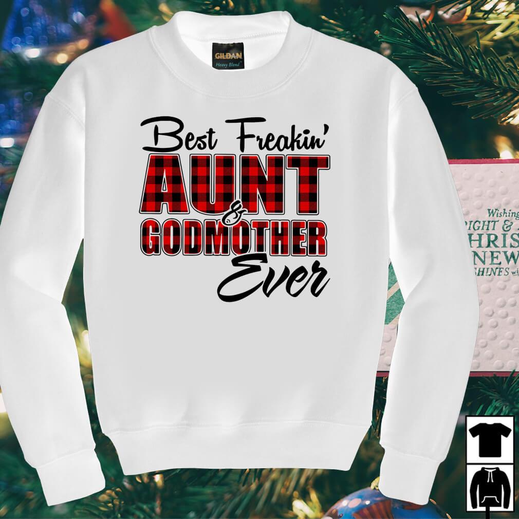 Best freakin aunt godmother ever buffalo plaid shirt