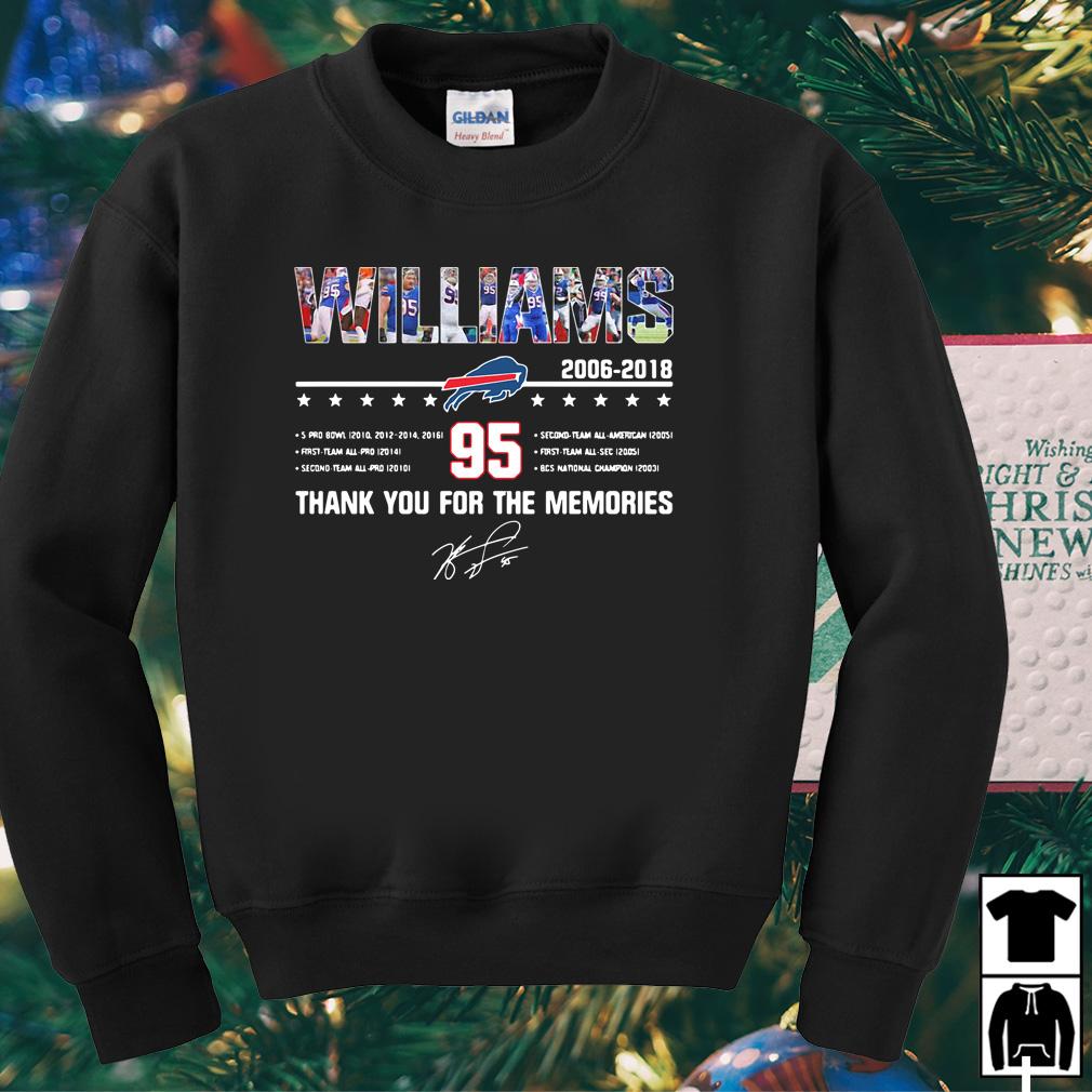 Buffalo Bills Williams 2006 2018 thank you for the memories shirt