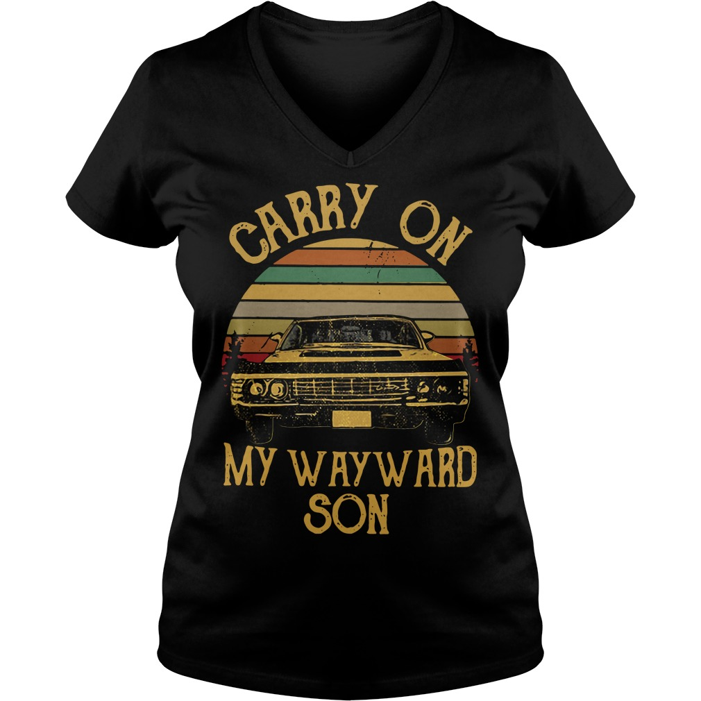 Carry on my wayward son vintage V-neck T-shirt