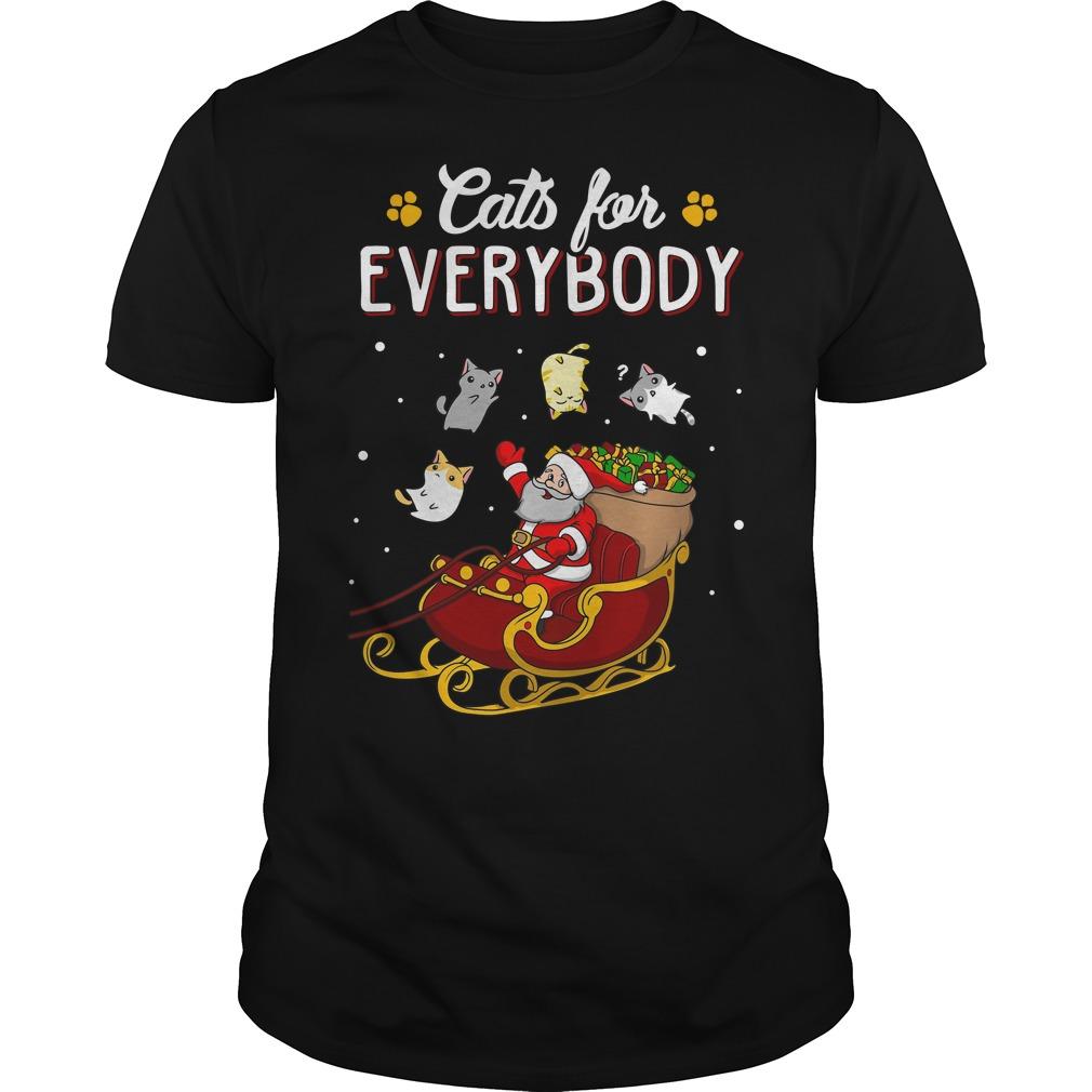 Cats for everybody ugly Christmas Guys shirt