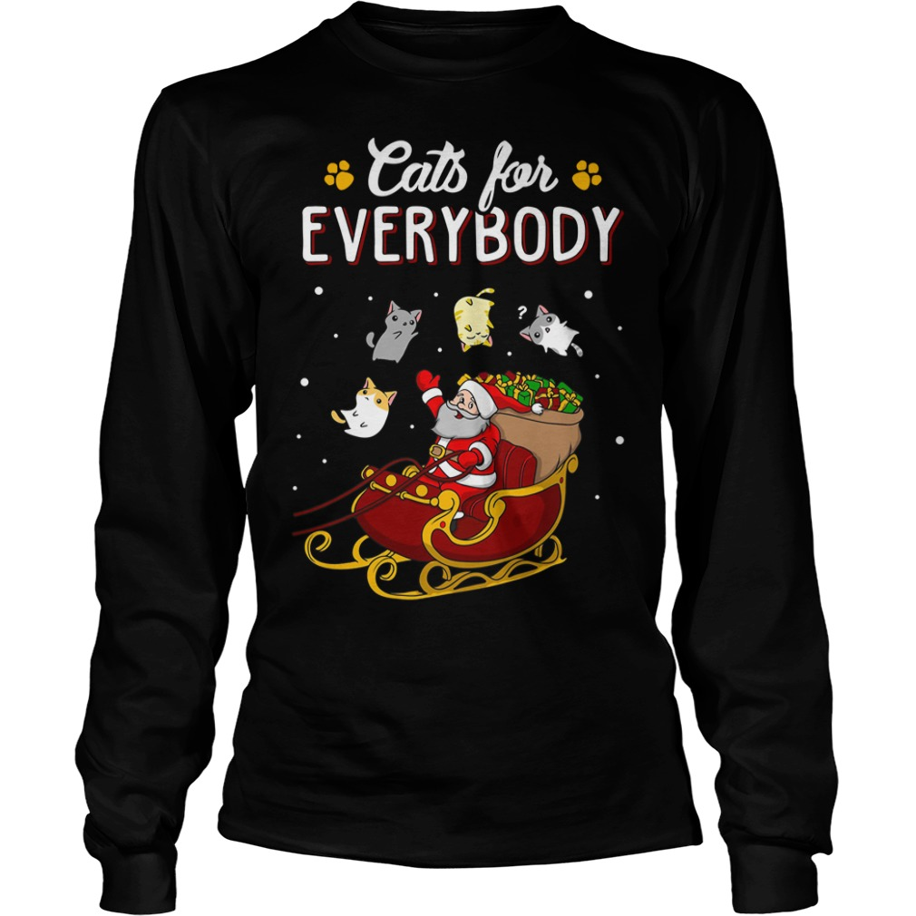 Cats for everybody ugly Christmas Longsleeve tee