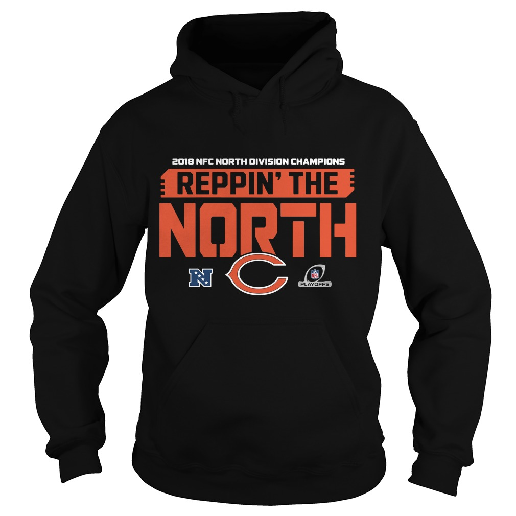 Chicago Bears 2018 NFC North Division Champions Reppin' the North Hoodie