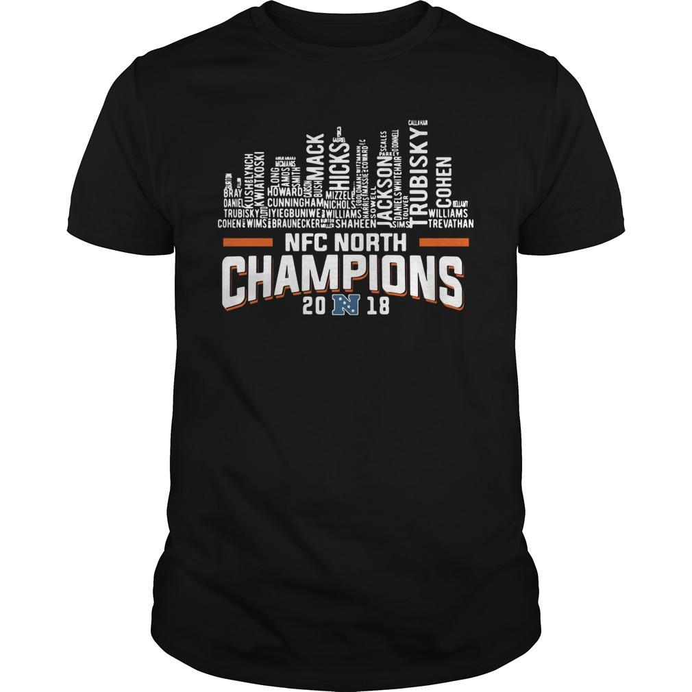 Chicago Bears NFC north champions 2018 Guys Shirt