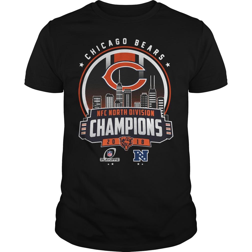 Chicago Bears NFC north division champions 2018 Guys shirt