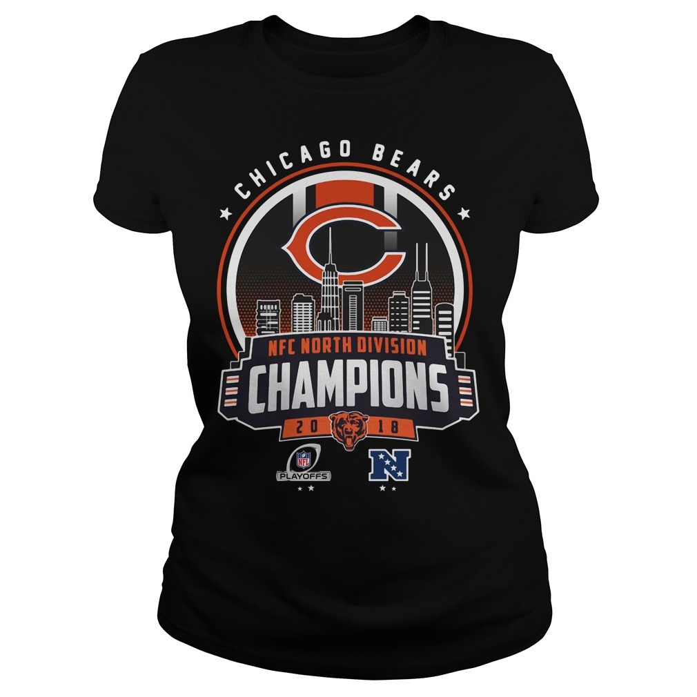 Chicago Bears NFC north division champions 2018 Ladies tee