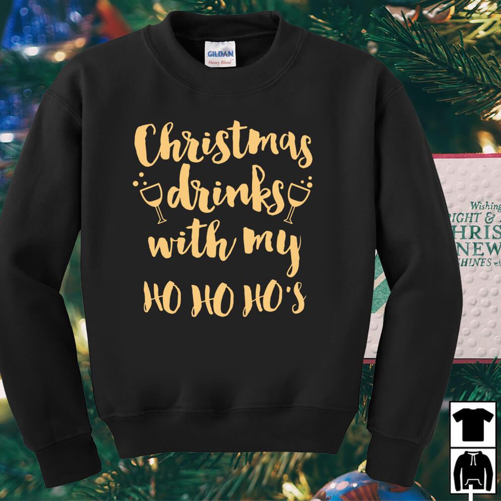 Christmas drinks with my Ho Ho Ho's sweater