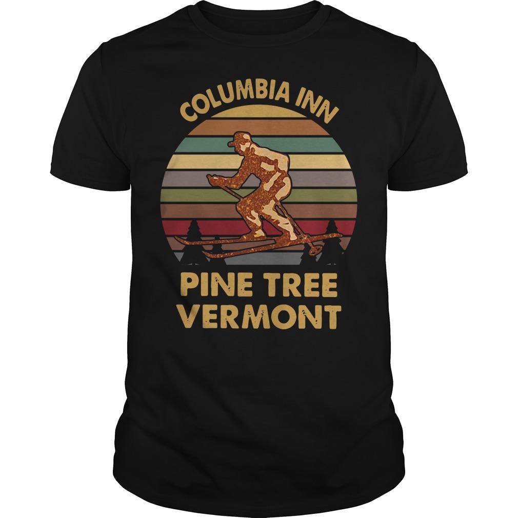Columbia inn pine tree Vermont vintage Guys Shirt